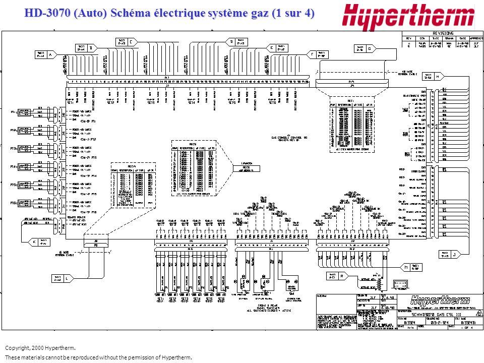 HD-3070 (Auto) Schéma électrique système gaz (1 sur 4)