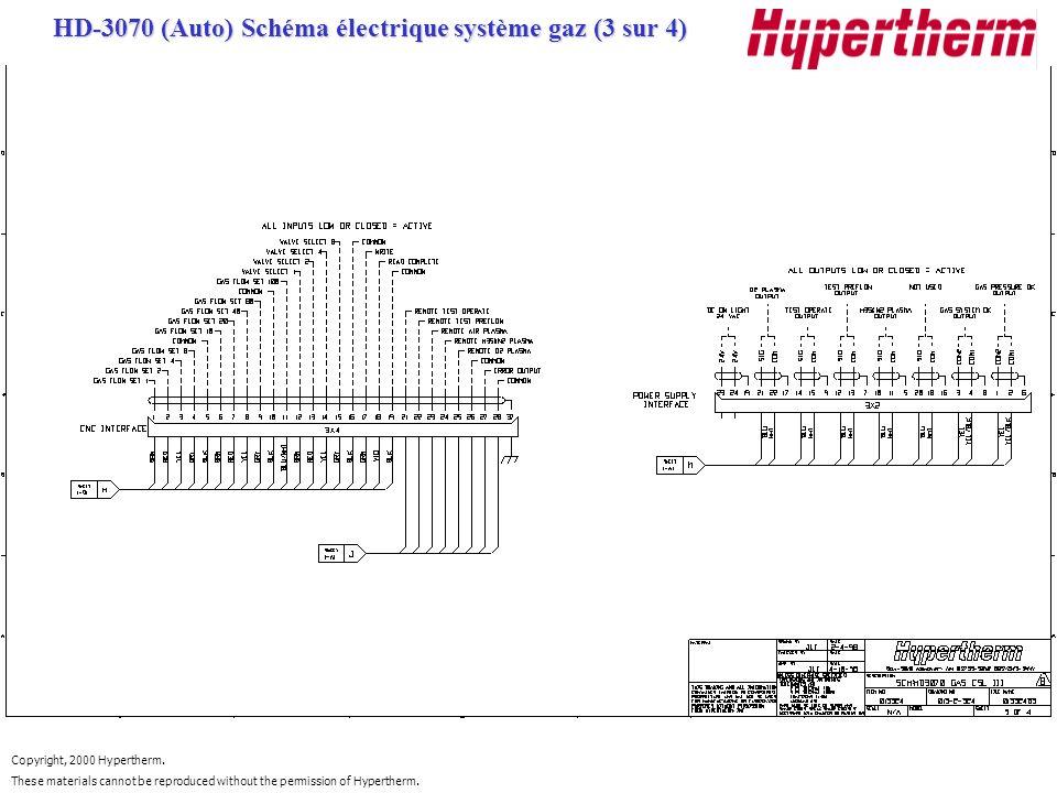 HD-3070 (Auto) Schéma électrique système gaz (3 sur 4)