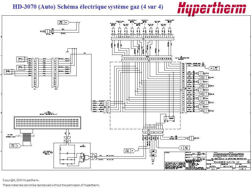 HD-3070 (Auto) Schéma électrique système gaz (4 sur 4)