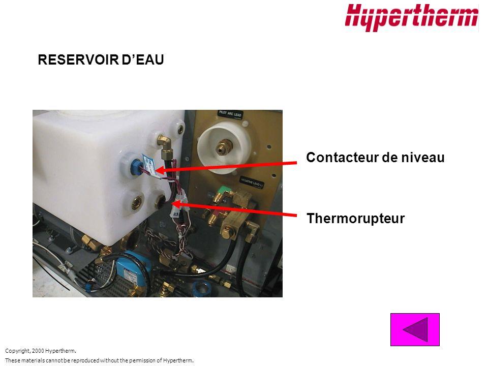RESERVOIR D'EAU Contacteur de niveau Thermorupteur