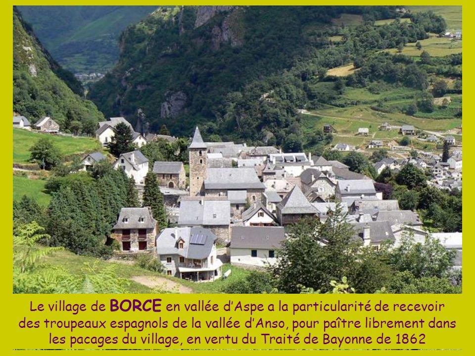 Le village de BORCE en vallée d'Aspe a la particularité de recevoir des troupeaux espagnols de la vallée d'Anso, pour paître librement dans les pacages du village, en vertu du Traité de Bayonne de 1862
