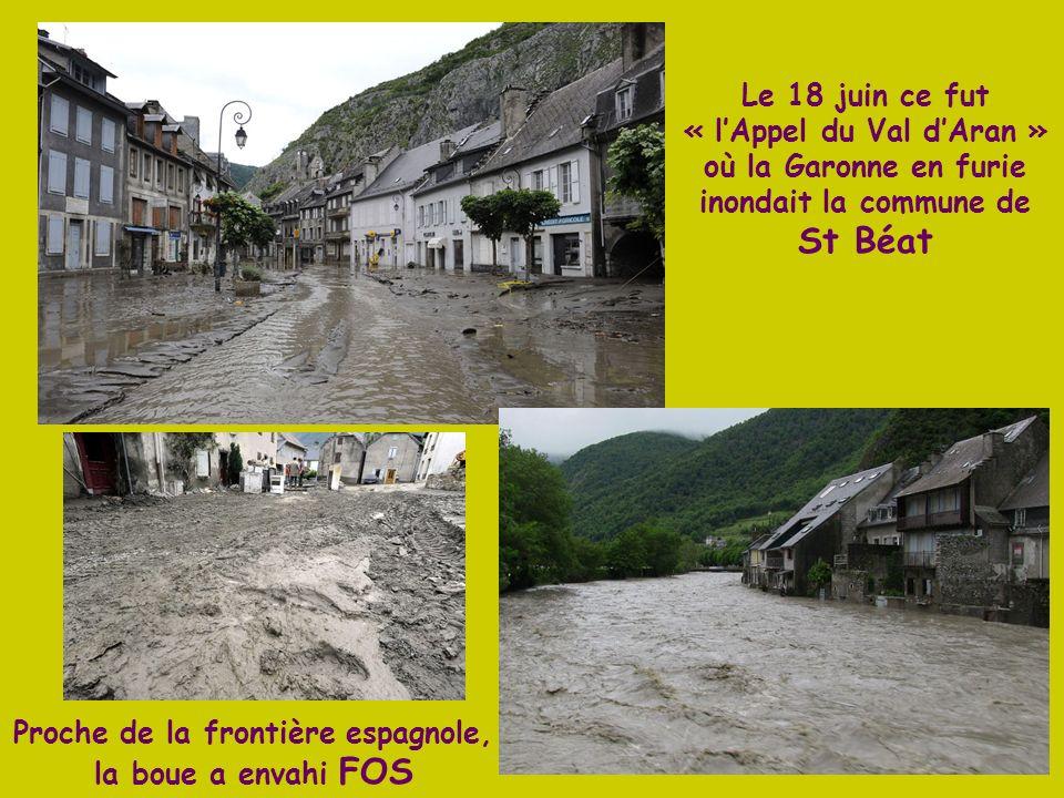 Proche de la frontière espagnole, la boue a envahi FOS