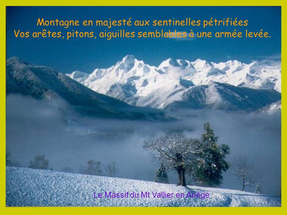 Montagne en majesté aux sentinelles pétrifiées