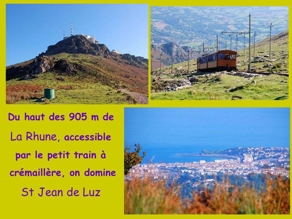 La Rhune, accessible St Jean de Luz Du haut des 905 m de
