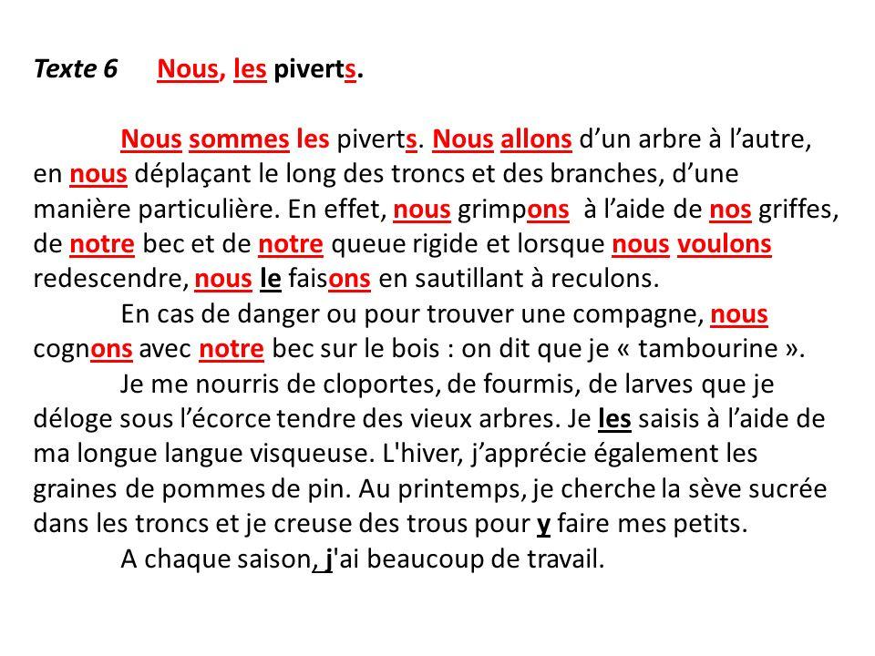 Texte 6 Nous, les piverts.