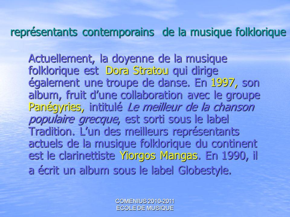 représentants contemporains de la musique folklorique