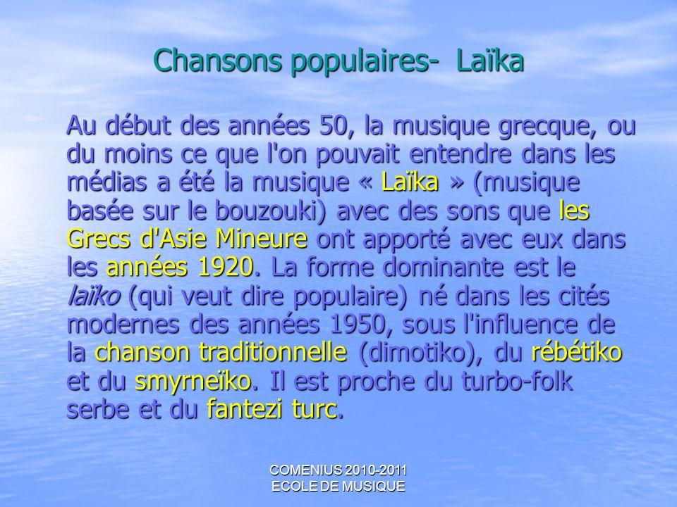 Chansons populaires- Laïka