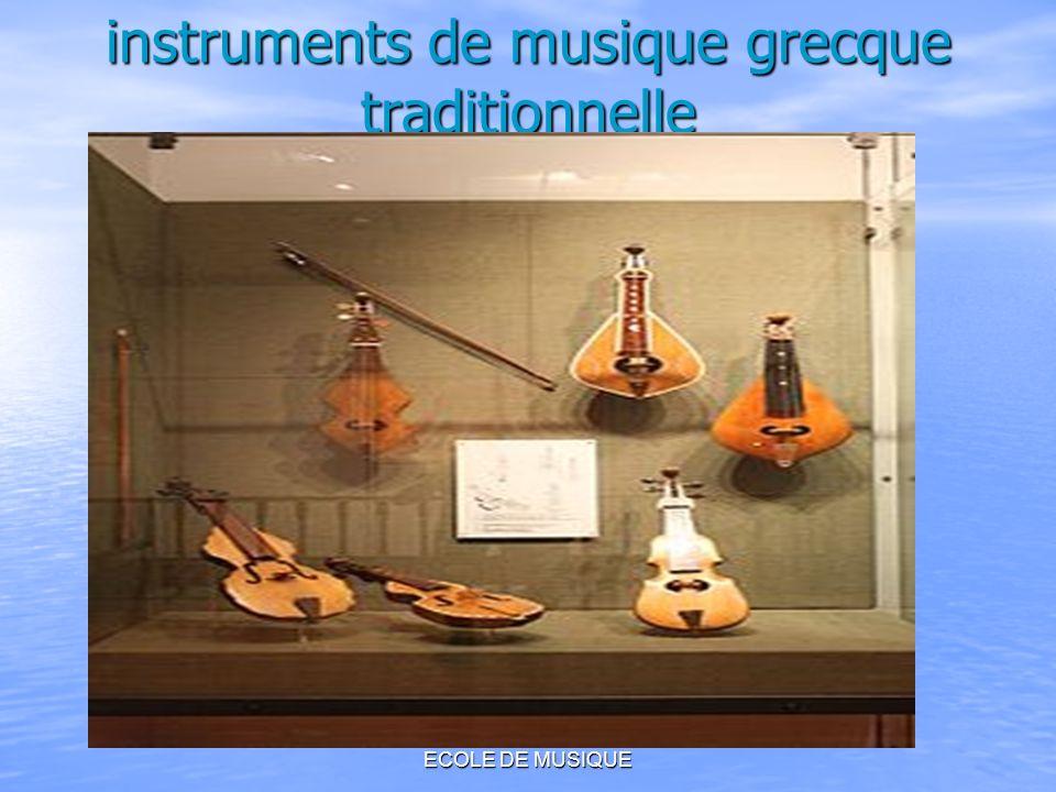 instruments de musique grecque traditionnelle