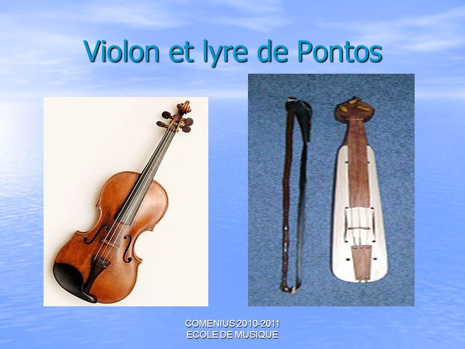 Violon et lyre de Pontos