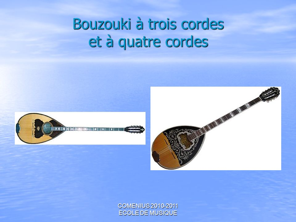 Bouzouki à trois cordes et à quatre cordes