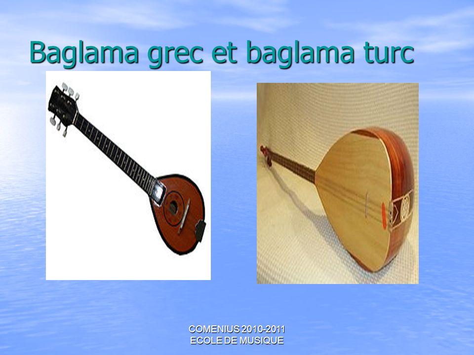 Baglama grec et baglama turc
