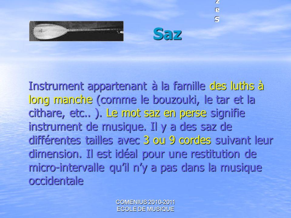 COMENIUS 2010-2011 ECOLE DE MUSIQUE