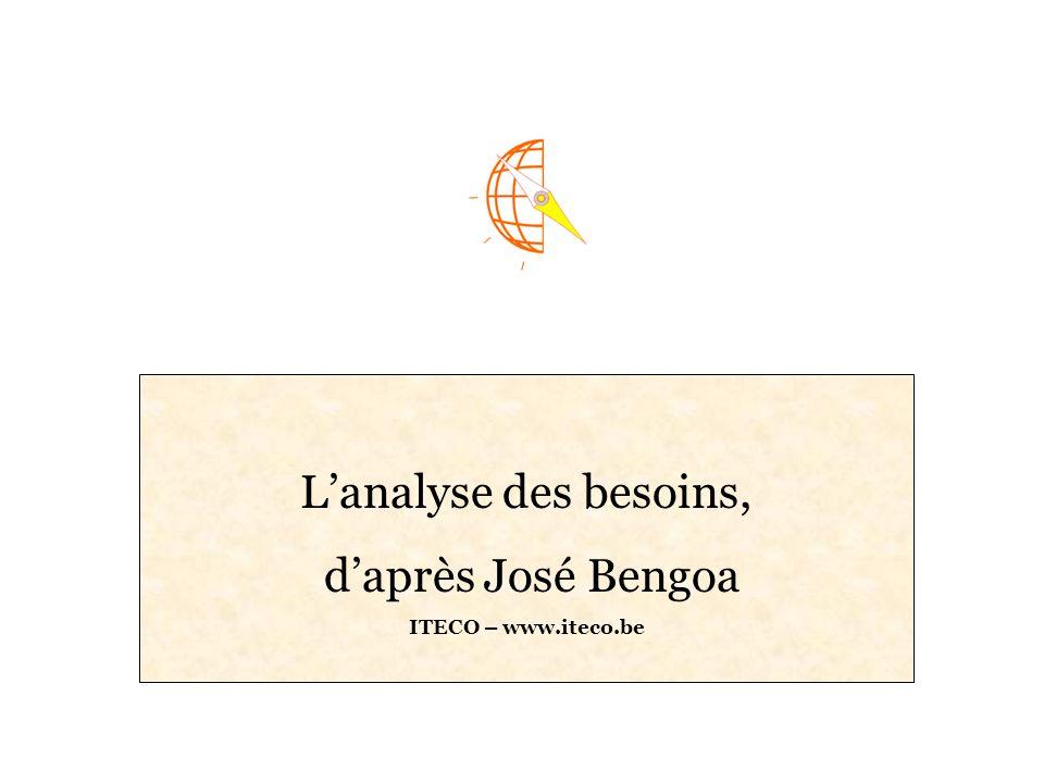 L'analyse des besoins, d'après José Bengoa ITECO – www.iteco.be