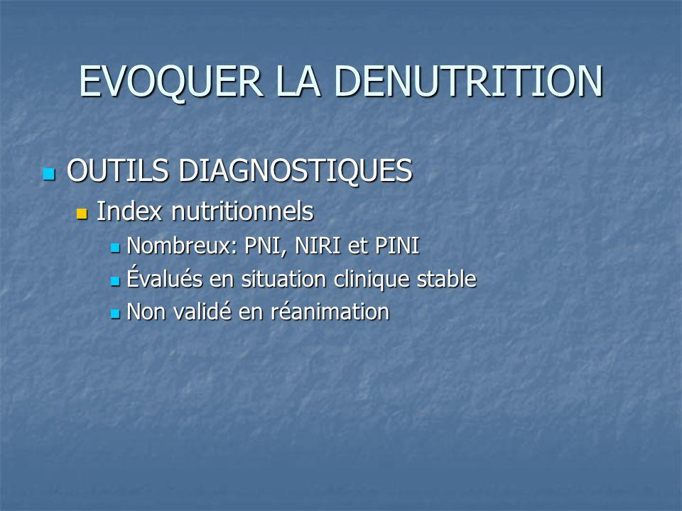 EVOQUER LA DENUTRITION