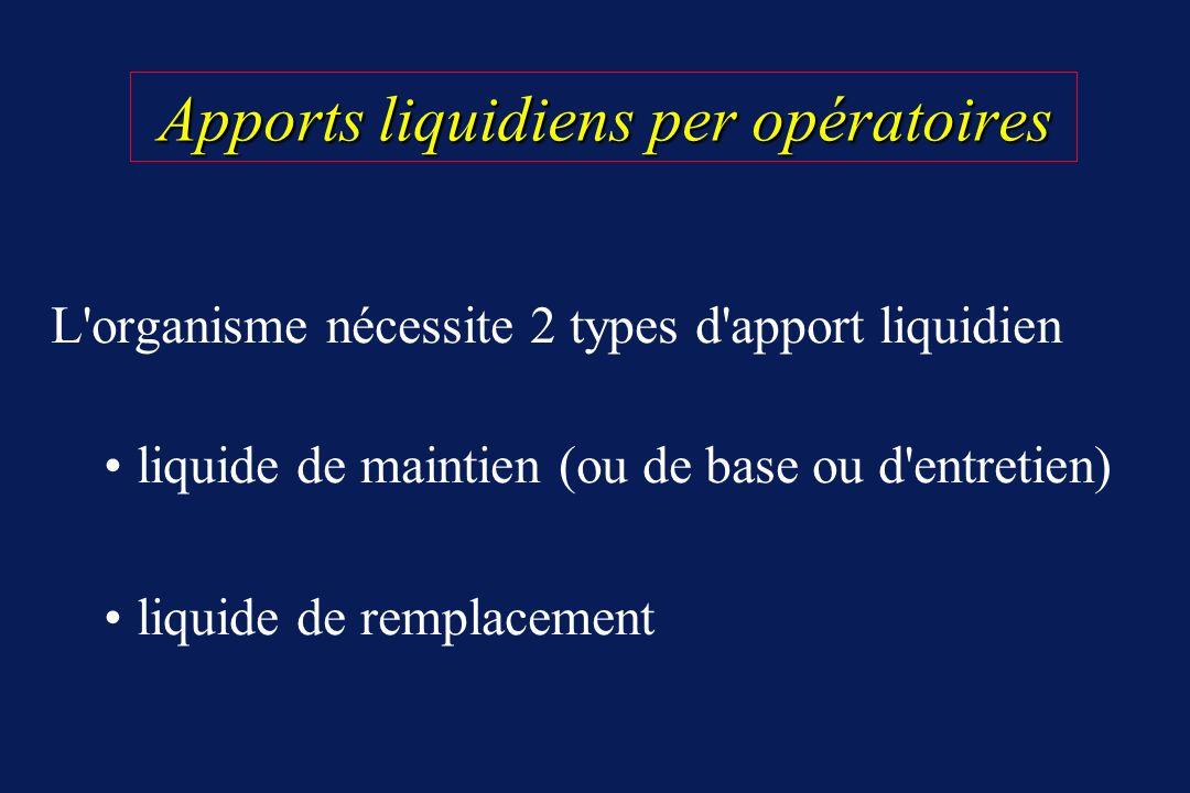 Apports liquidiens per opératoires