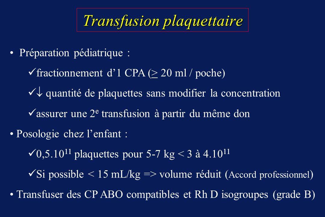 Transfusion plaquettaire