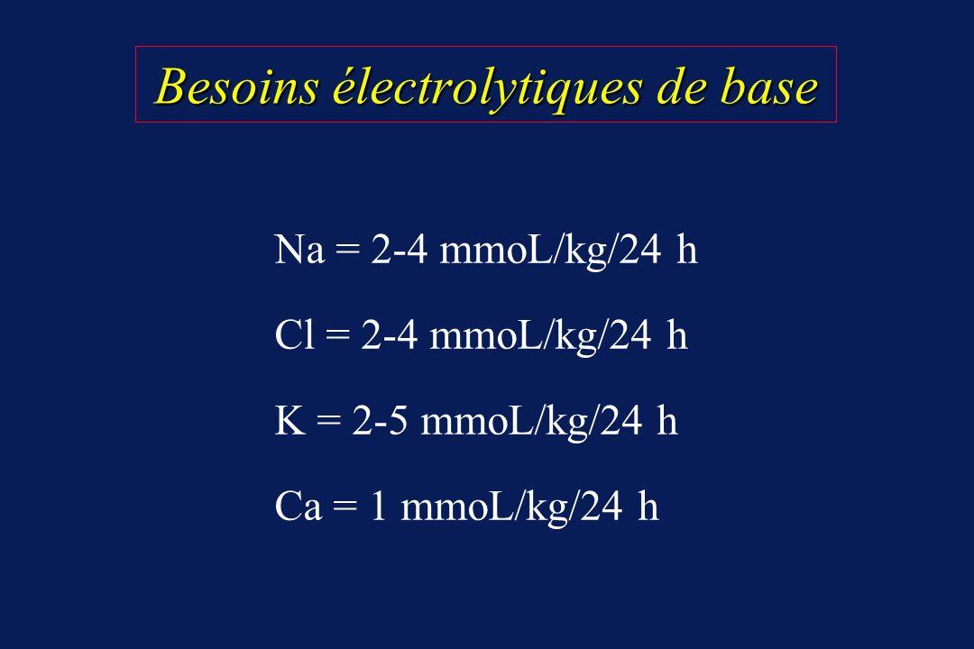 Besoins électrolytiques de base