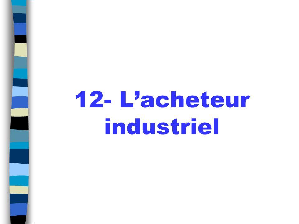 12- L'acheteur industriel