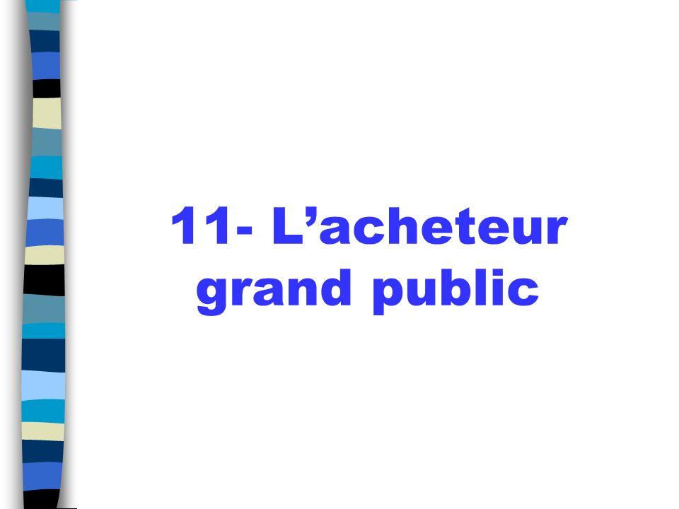 11- L'acheteur grand public