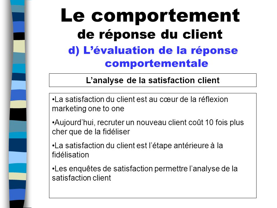 L'analyse de la satisfaction client