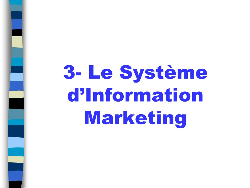 3- Le Système d'Information Marketing