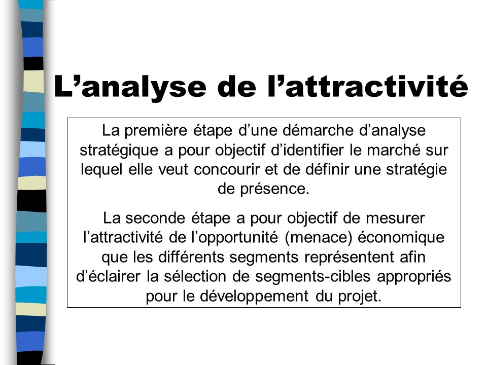 L'analyse de l'attractivité