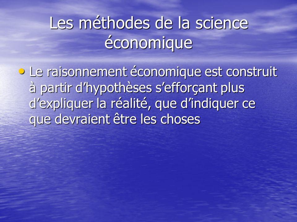 Les méthodes de la science économique