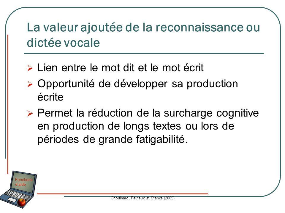 La valeur ajoutée de la reconnaissance ou dictée vocale