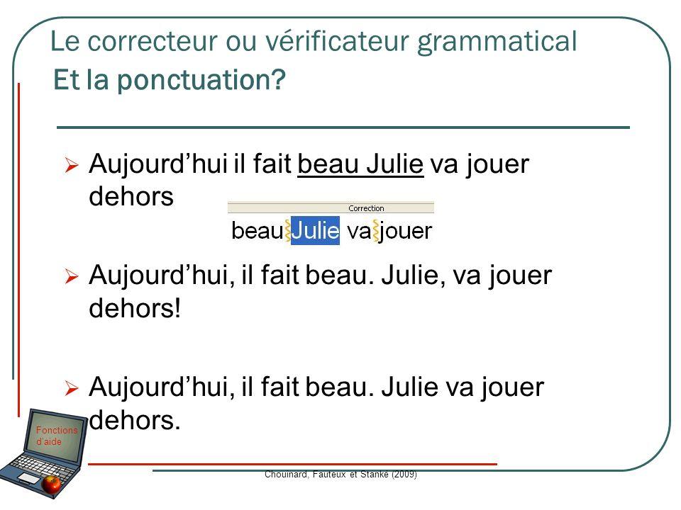 Le correcteur ou vérificateur grammatical