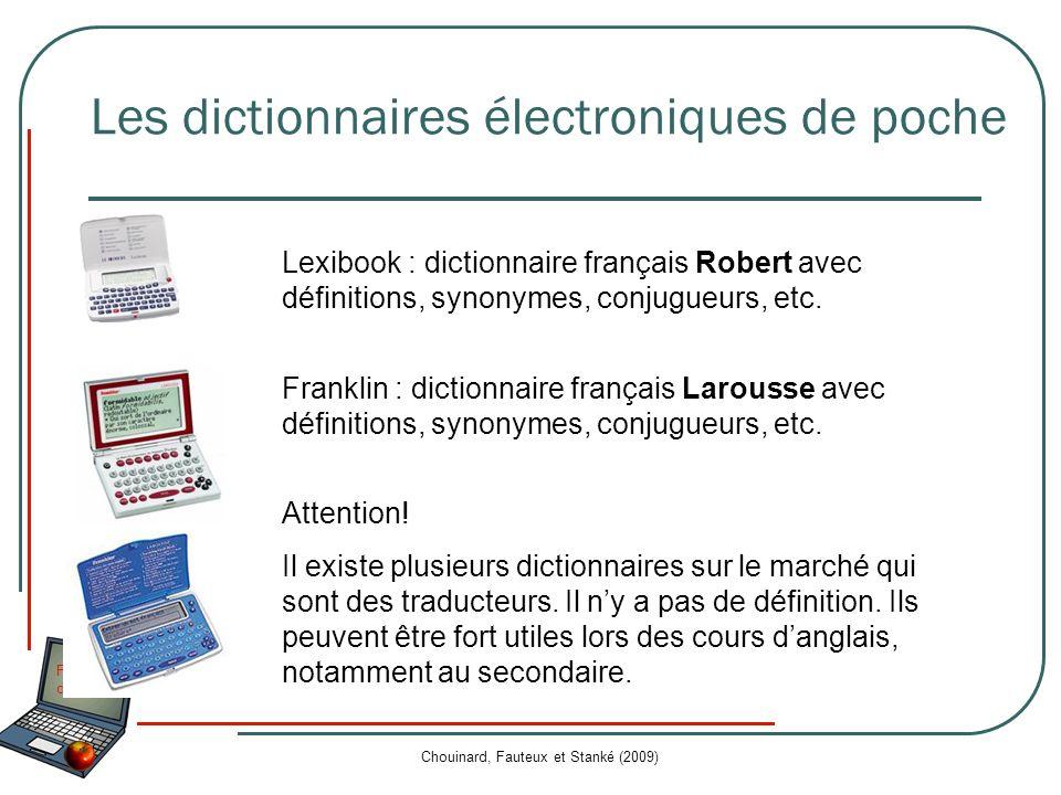 Les dictionnaires électroniques de poche