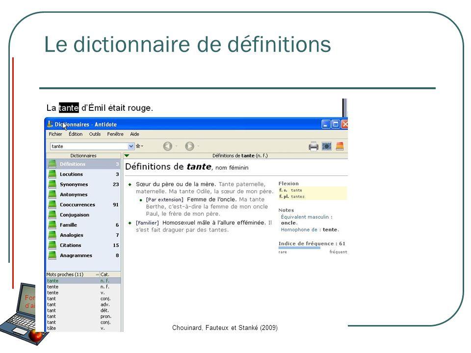 Le dictionnaire de définitions