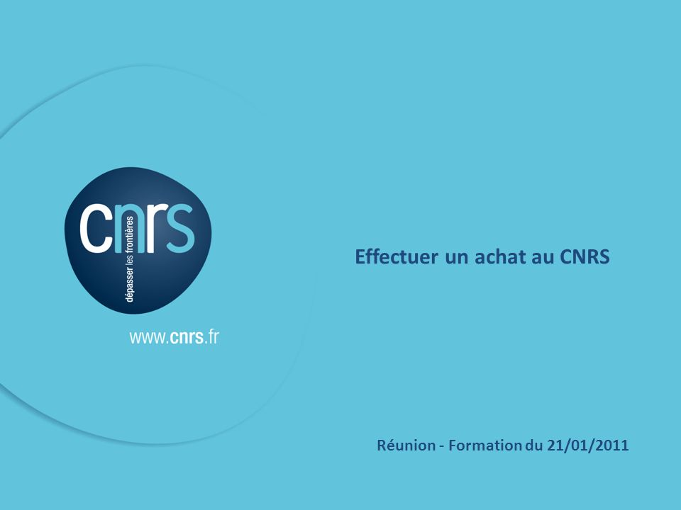 Effectuer un achat au CNRS