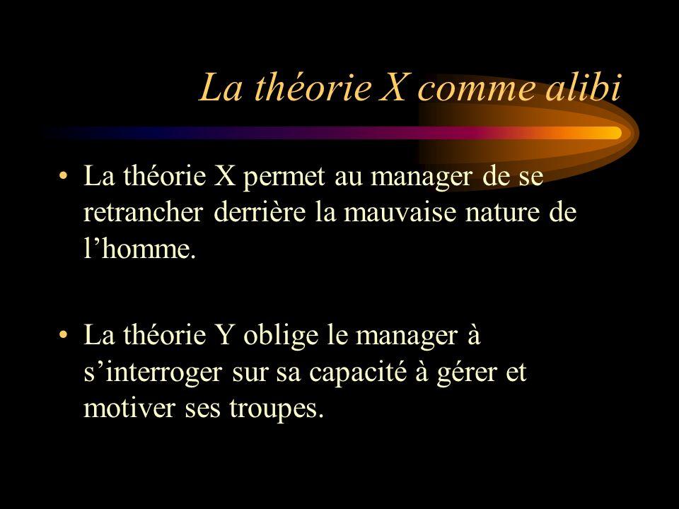 La théorie X comme alibi