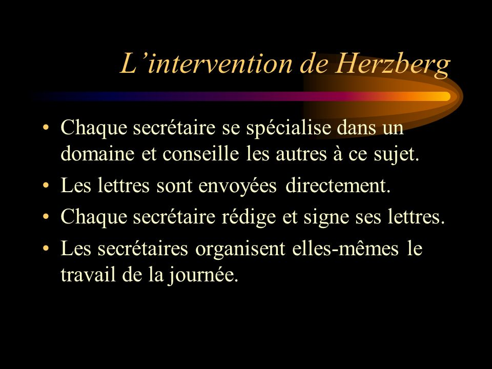 L'intervention de Herzberg