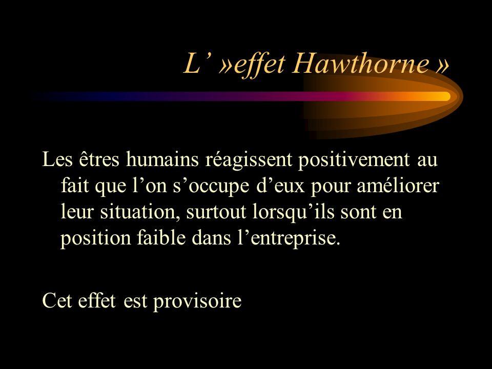 L' »effet Hawthorne »