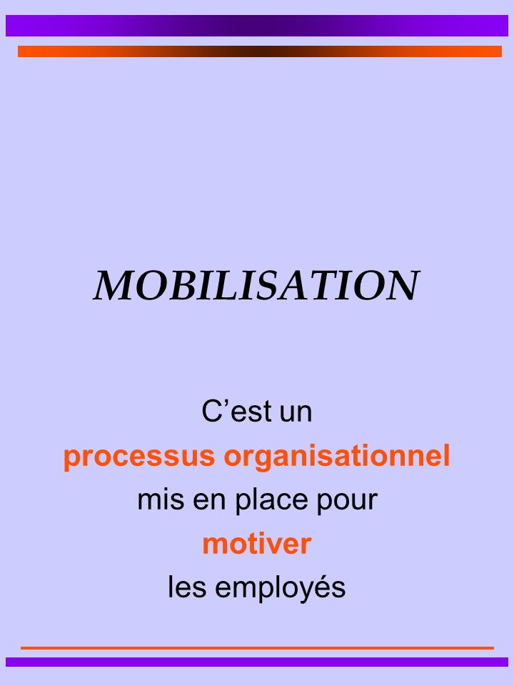 processus organisationnel
