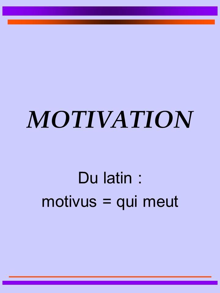 Du latin : motivus = qui meut