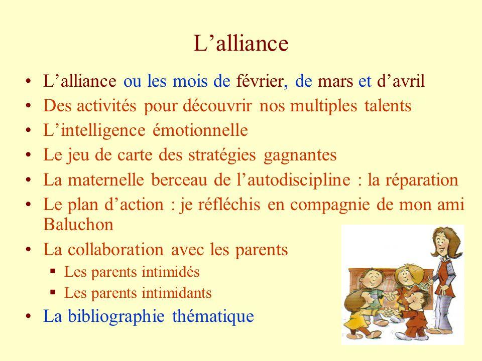 L'alliance L'alliance ou les mois de février, de mars et d'avril