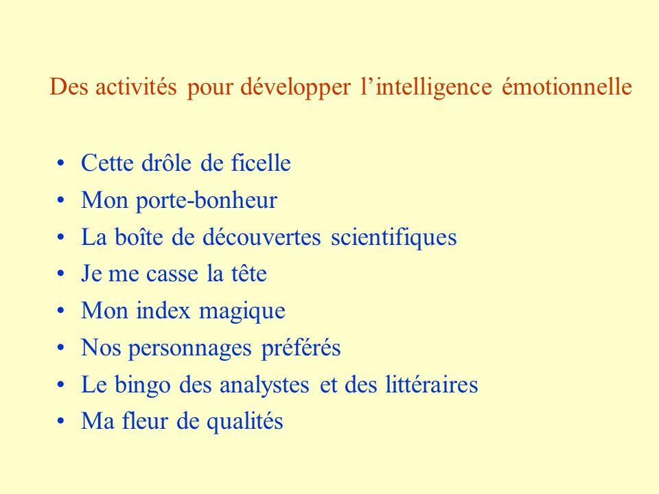 Des activités pour développer l'intelligence émotionnelle