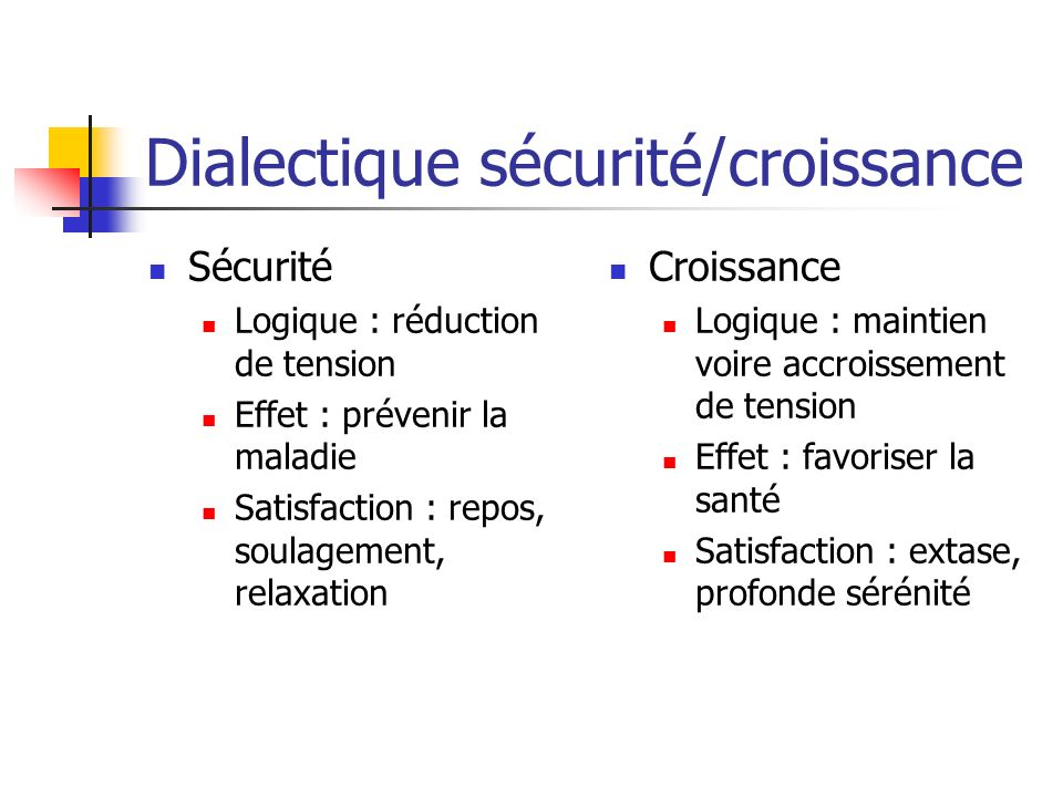Dialectique sécurité/croissance
