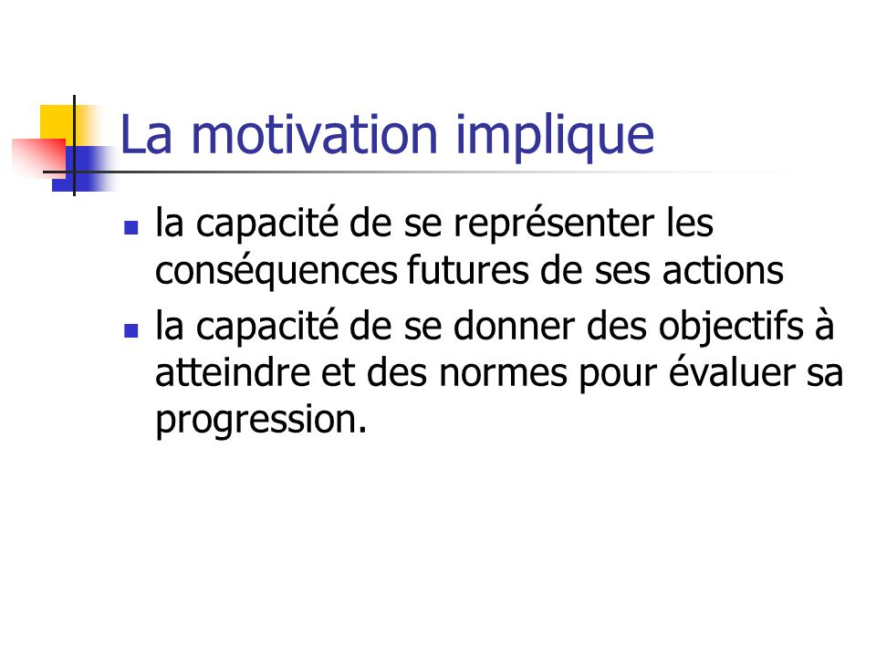 La motivation implique
