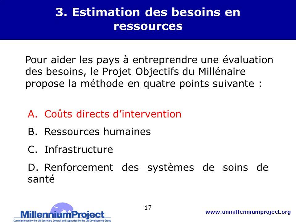 3. Estimation des besoins en ressources