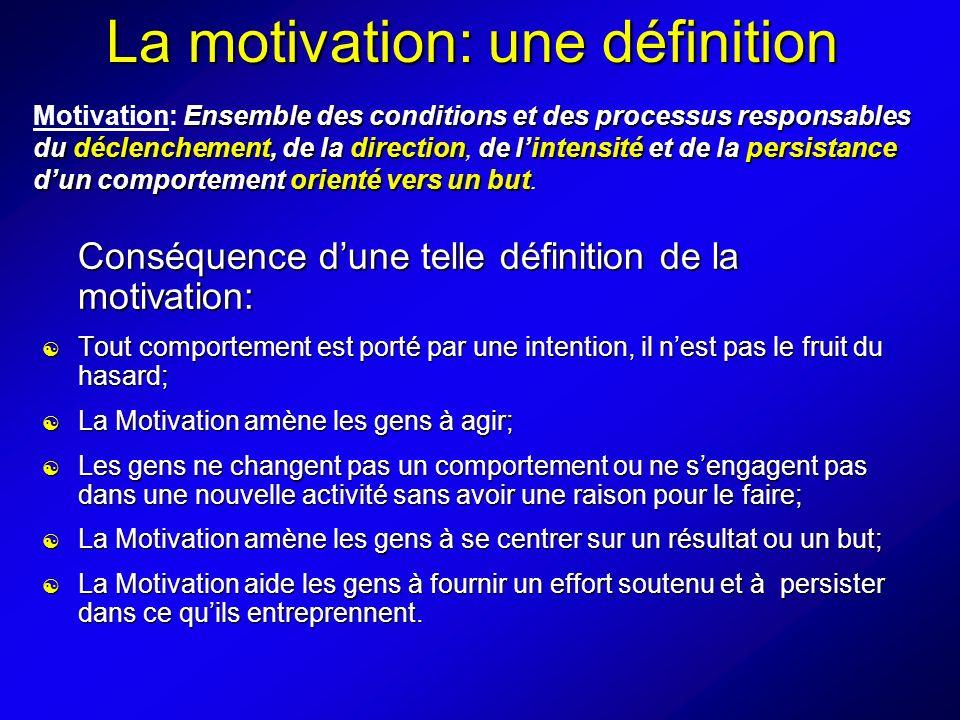 La motivation: une définition