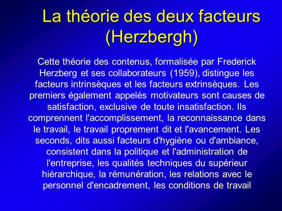 La théorie des deux facteurs (Herzbergh)