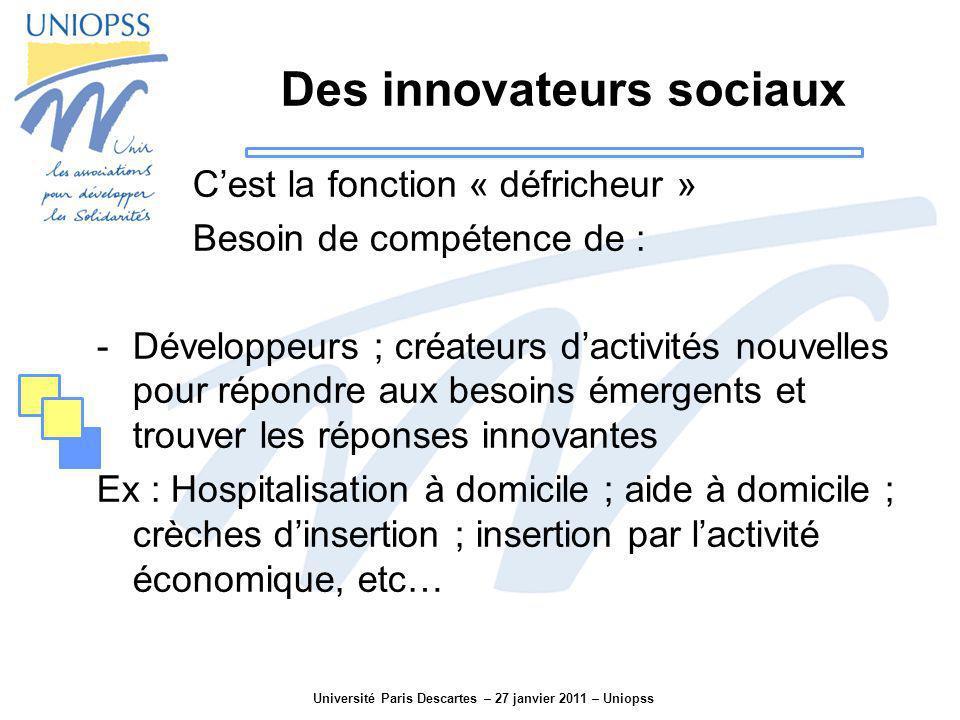 Des innovateurs sociaux