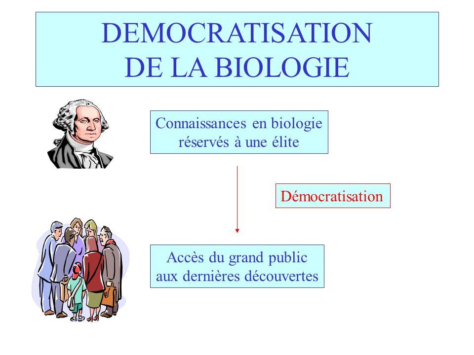 DEMOCRATISATION DE LA BIOLOGIE
