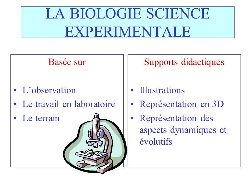 LA BIOLOGIE SCIENCE EXPERIMENTALE