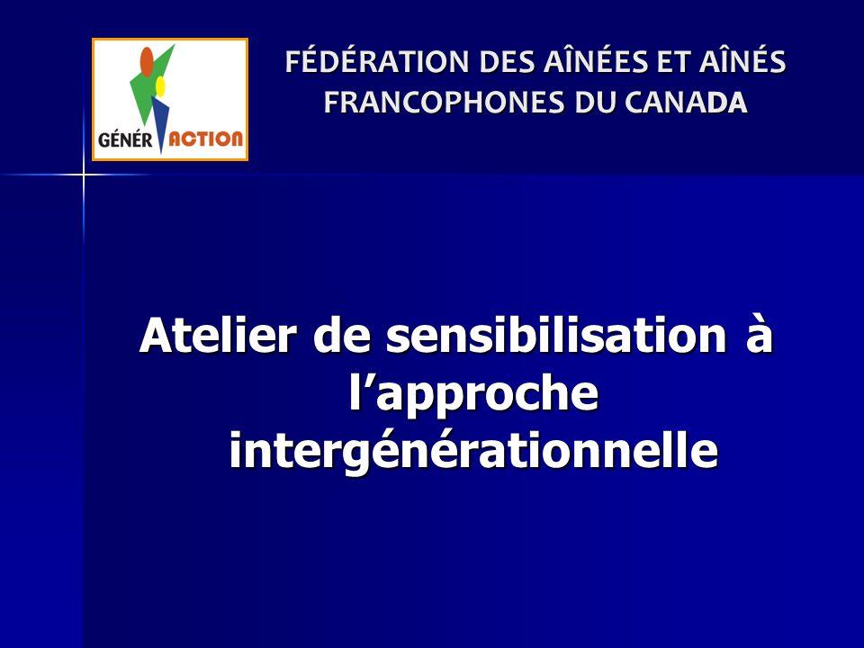 FÉDÉRATION DES AÎNÉES ET AÎNÉS FRANCOPHONES DU CANADA