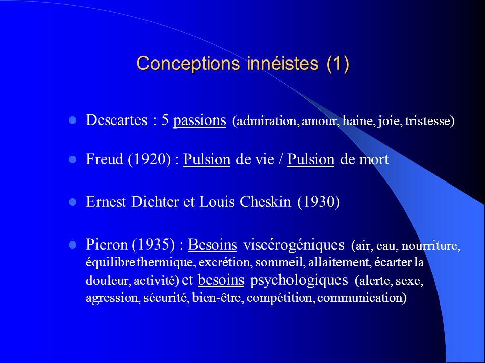 Conceptions innéistes (1)