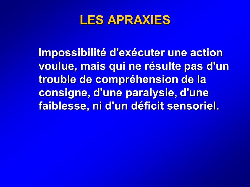LES APRAXIES